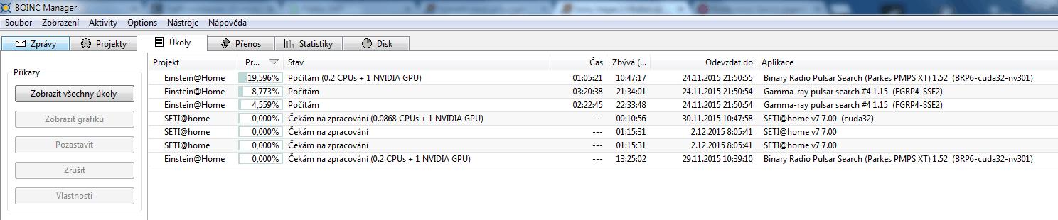 Výpočty BOINC