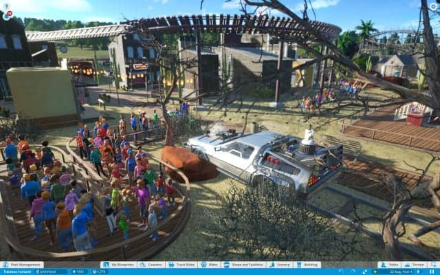 Screenshot ze hry Planet Coaster